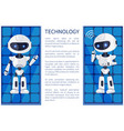 technology and robot poster vector image vector image