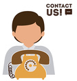 Telemarketing design vector image vector image