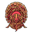 thanksgiving turkey bird vector image