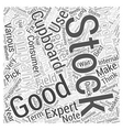 Use Your Cupboard As a Stock Picker Word Cloud vector image vector image