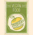 vegan food promotional banner design vector image