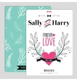 Wedding romantic floral Save the Date invitation vector image vector image