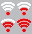 Wi fi signal strength vector image