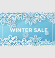 winter winter social media post design template vector image vector image