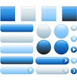 blank web glossy buttons vector image