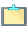 Clipboard with blank sheet of paper icon vector image