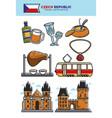 czech republic travel destination banner with vector image