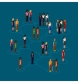 3d isometric of society members with men and women vector image vector image