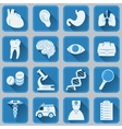 A set of flat square icons on medical subjects vector image vector image