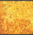 abstract gold color triangle mosaic cube tile vector image vector image