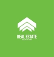 Abstract real estate house logo vector image vector image