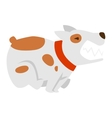 Angry flat dog pet and vector image vector image