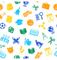 back to school stationery pattern vector image vector image