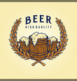 badge logo craft beer quality vector image vector image