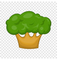 big green tree icon in cartoon style vector image vector image