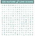 big natural icon set vector image vector image
