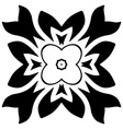 Black floral motif Isolated vector image vector image