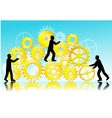 Business teamwork vector image