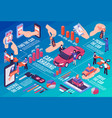 car sharing infographic flowchart vector image vector image