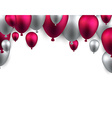 Celebrate arch background with balloons vector image vector image