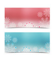 christmas banners with snow vector image vector image
