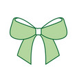 christmas bow ribbon decoration ornament vector image