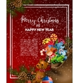 Christmas greeting-card with fir-tree and gifts vector image vector image