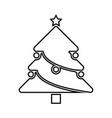 christmas tree black icon vector image