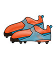 cleats football soccer shoes icon image vector image vector image