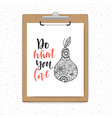 clipboard with white paper on grey wood vector image