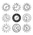 clock and watch face with vintage round dial icons