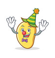 clown mango character cartoon mascot vector image vector image