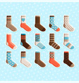 colorful cartoon cute kids socks stickers vector image