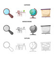 design of education and learning icon set vector image vector image