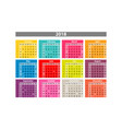desk calendar 2018 simple colorful gradient vector image vector image