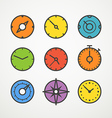 Different slyles of color speedometers collection vector image vector image