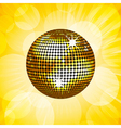 disco ball vector image vector image
