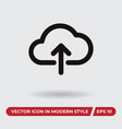 download icon in modern style for web site and vector image vector image