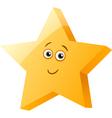 funny star cartoon vector image