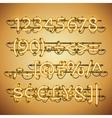 glowing neon golden numbers vector image vector image