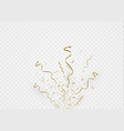 golden confetti isolated on cellular background vector image vector image