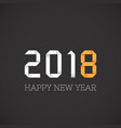 happy new year 2018 greeting origami style vector image vector image