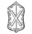 heraldic shield from the abbey church vintage vector image vector image