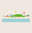 info graphic and elements of tourist spot of sea vector image vector image