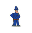 London Policeman Police Officer Cartoon vector image vector image