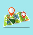 map icon with markers vector image