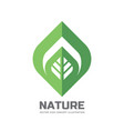 nature logo template concept vector image vector image