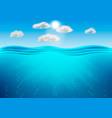 ocean deep water sea under water level sun rays
