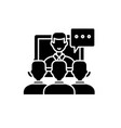 online lecture black icon sign on isolated vector image vector image