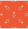 Orange arrow cursor pattern vector image vector image